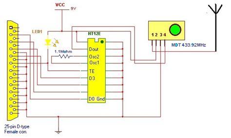 Ht12d electronic hobby circuits ht12e encoder rf wireless data