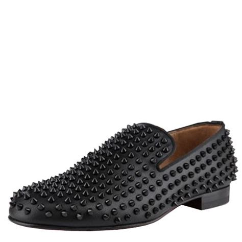 christian louboutin rollerboy spikes flats black