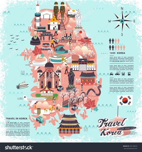 seoul map tourist attractions wonderful south korea travel map with attractions new zone
