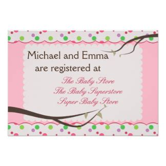 Babyshower Registry Card Template The Bump by Baby Shower Registry Invitations Announcements Zazzle