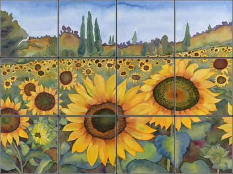 Kitchen Backsplash Diy Ideas Sunflower Decorative Ceramic Tile Mural Pacifica Tile