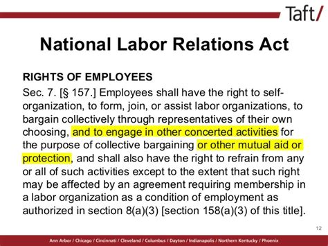 section 8 of the national labor relations act mind the gap new laws affecting hr professionals