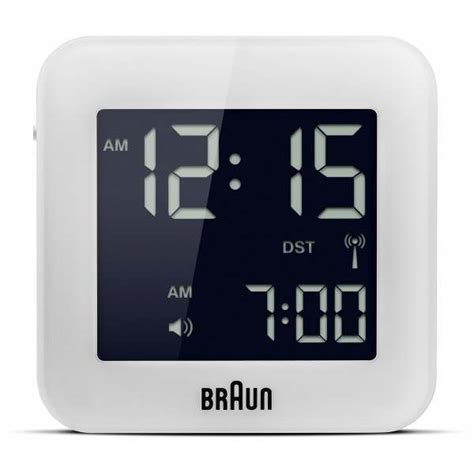 braun bnc white global radio controlled travel alarm clock