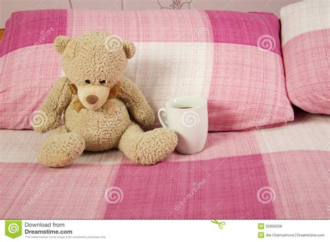 teddy bear bed teddy bear in bed royalty free stock image image 22956206
