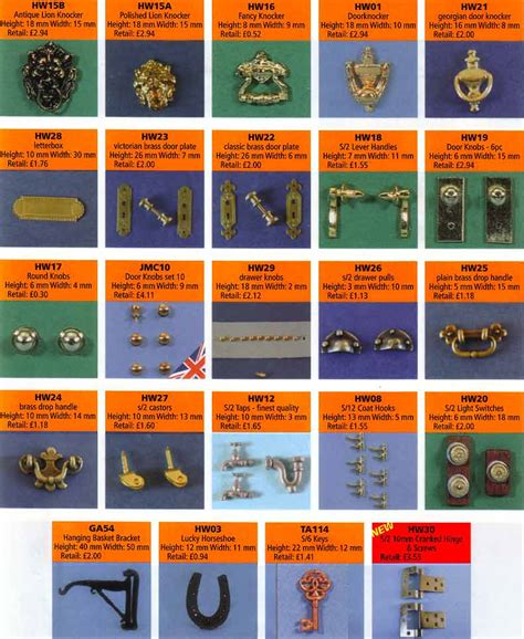 dolls house fittings dolls house fittings hinges door knobs locks taps tables kitchen sets furniture