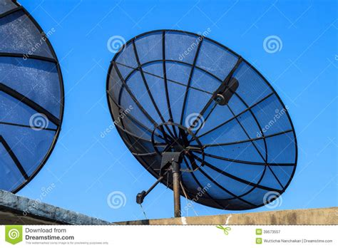 big satellite big black satellite dish stock photo image 39573557