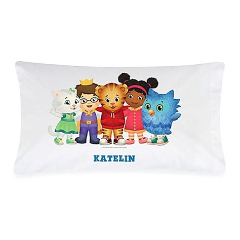 daniel tiger bed quot daniel tiger s neighborhood quot pillowcase in white multicolor bed bath beyond
