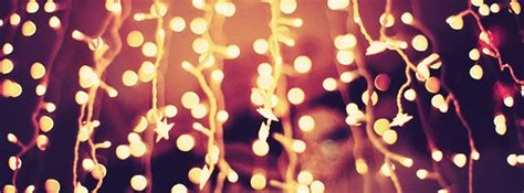 christmas lights at night facebook cover photo