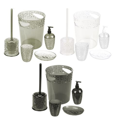 5 piece bathroom set 5 piece waterdrop bathroom set