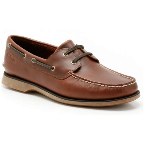 deck shoes clarksmens quay port mahogany lace up deck shoe