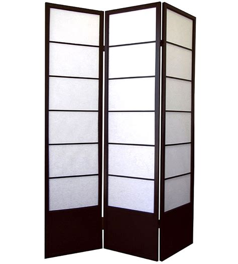 panel room divider shogun 3 panel room divider espresso in room dividers