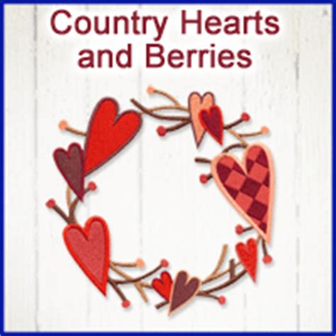 country hearts and kitchen machine embroidery designs at embroidery library new