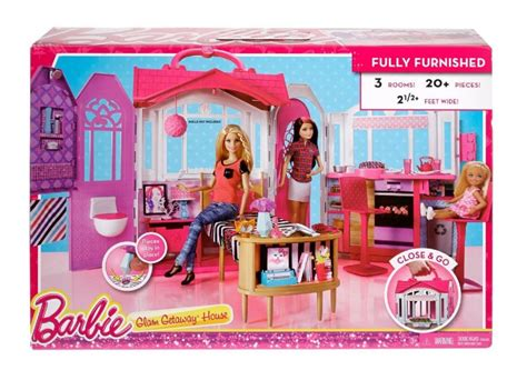 barbie glam house and doll set barbie glam getaway house playset