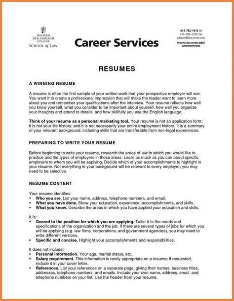 Objective Exles Resume by Resume Sle Objectives Sop