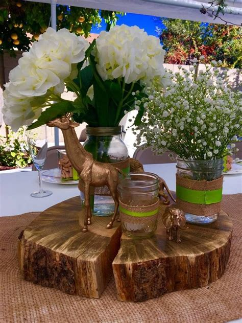 king centerpieces for baby shower best 25 safari centerpieces ideas on jungle