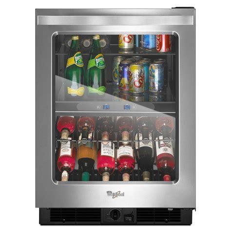 24 wine fridge whirlpool 24 in w 5 8 cu ft dual zone 12 bottle wine