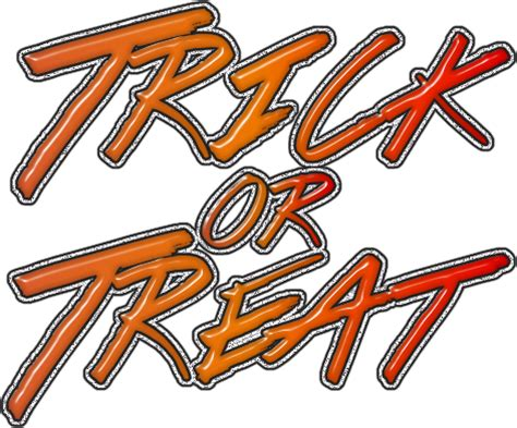 Trick Or Treat Graphic 8 graphic groupies trick or treat word