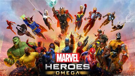 wallpaper marvel heroes omega ps  games