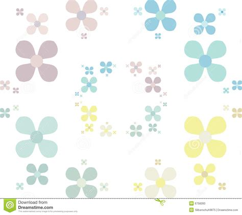 pastel simple pattern simple flower pattern in pastels stock photos image 6756093