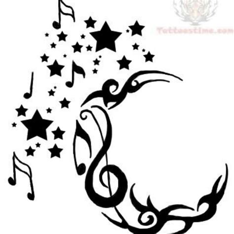 musical tribal tattoo designs 43 tribal moon tattoos