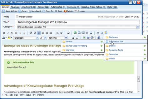 website templates for knowledge management article templates snippets