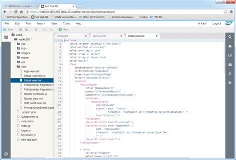 layout editor in sap web ide a guide to sap s development environments for sap hana and