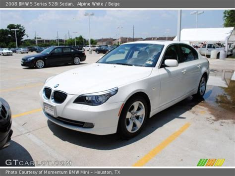 2008 Bmw 528i For Sale by Alpine White 2008 Bmw 5 Series 528i Sedan Beige