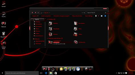 download theme xenomorph for windows 7 alienware red skin pack skinpack customize your