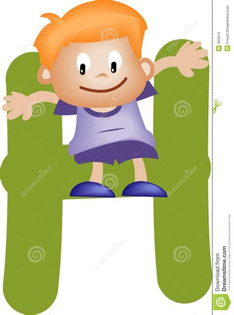 Letter For Boy Alphabet Letter H Boy Stock Images Image 900514