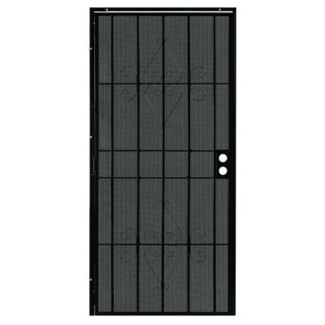 alert 36 in x 80 in charleston black steel prehung
