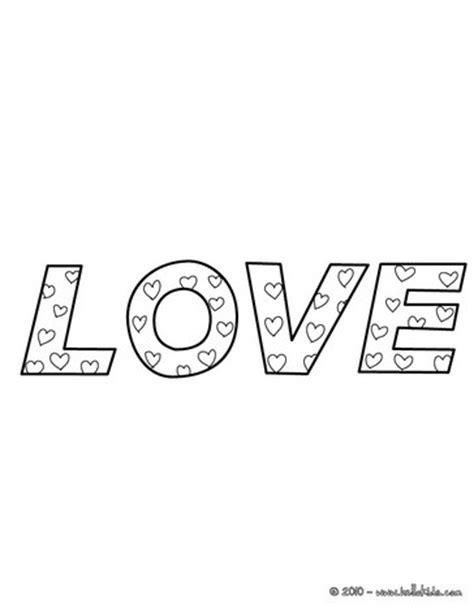 coloring pictures of love words word of love coloring pages hellokids com