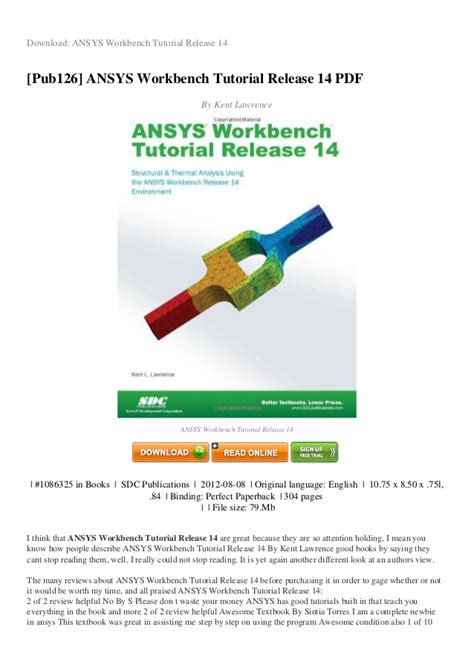 ansys tutorial design optimization pdf review ansys workbench tutorial release 14 pdf f2fc9