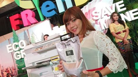 Printer Epson Pontianak pakai kantong tinta printer epson bikin ongkos cetak makin irit tribunnews