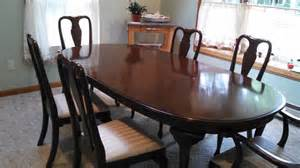 Ethan Allen Dining Room Chairs vintage ethan allen kling solid cherry dining room table