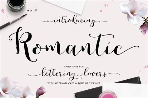 font design romantic romantic hand lettered script font on behance