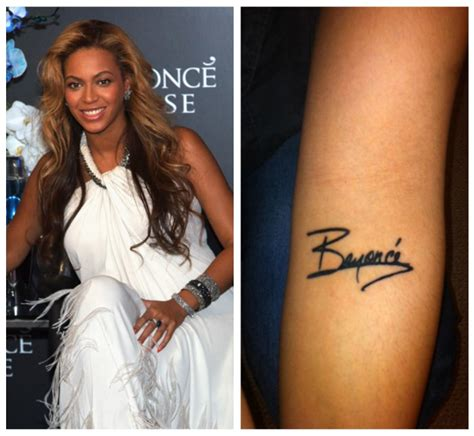 beyonce tattoos beyonce fan autograph tattoo 1 keyshia ka oir