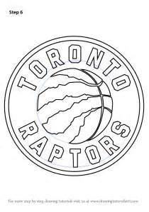 learn how to draw toronto raptors logo nba step by step