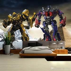 Transformers Wall Murals 3d transformers photo wallpaper optimus prime amp bumblebee wall mural