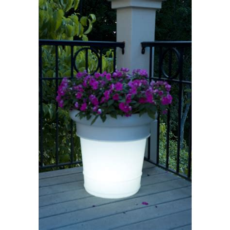Hello Garden Light With Planter by Garden Glow Solar Light Outdoor Planter