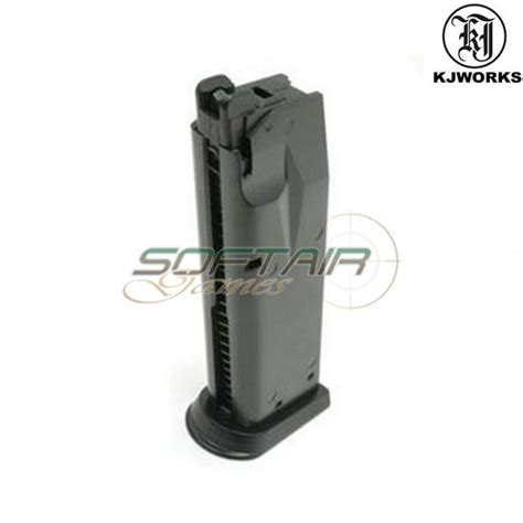 gas magazine for pistol p229 kp02 black kjworks kjw mag