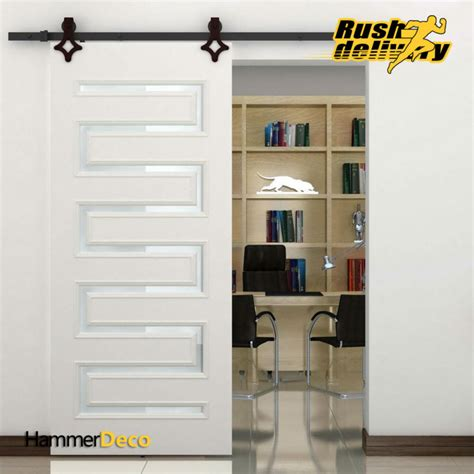 Closet Doors Hardware by High Quality 5 8 Ft Single Sliding Barn Wood Closet Door