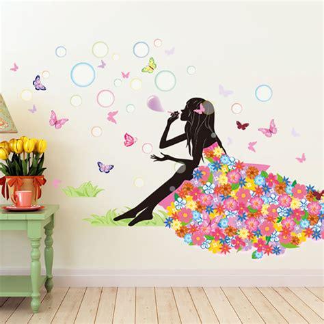 Ballerina Wall Mural aliexpress com buy pawpaw pink girl wall stickers home