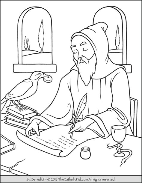 coloring book sales benedict coloring page the catholic kid