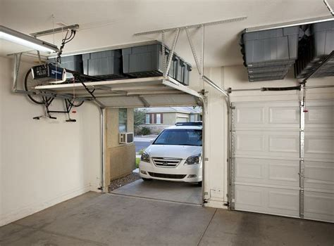 keep track storage solutions completely thought out overhead garage storage diy installation is