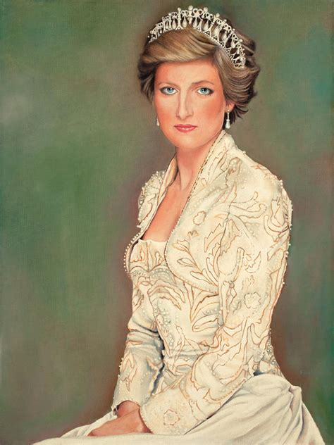 painting of princess princess diana painting by douglas fincham