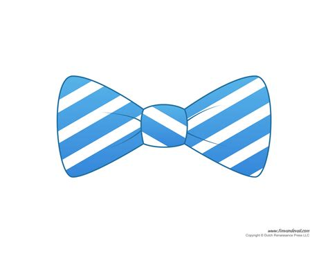 Bow Tie Template Free by Tim De Vall Comics Printables For