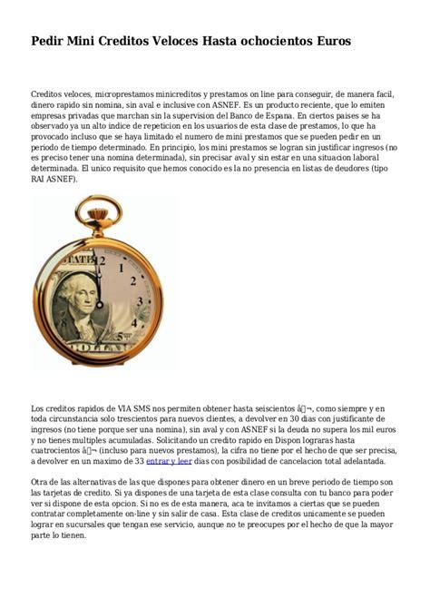 pedir credito asnef mini creditos pedir credito 300 euros prestamos personales con asnef y