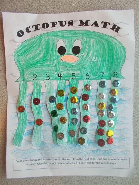 math craft projects chipman s corner preschool o is for octopus math
