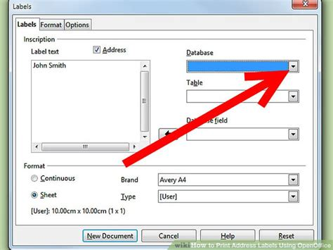 printing address labels software how to print address labels using openoffice with pictures