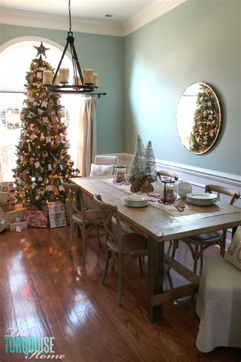 dining table for 8 rustic decorated christmas trees christmas decorating in the dining room and a rustic glam